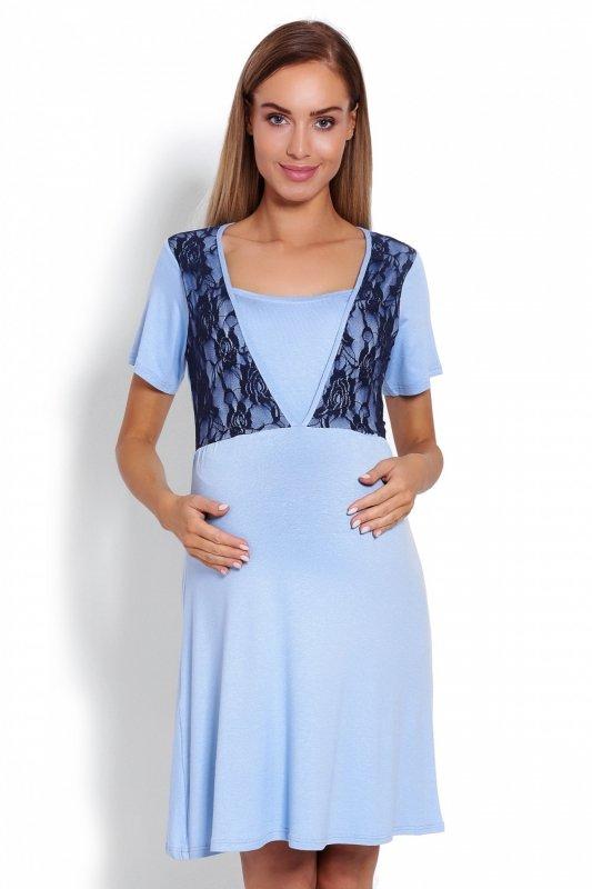 9b6fb544a0fdfa Koszula Nocna Ciążowa Model 1680 Sky Blue - Bielizna ciążowa ...