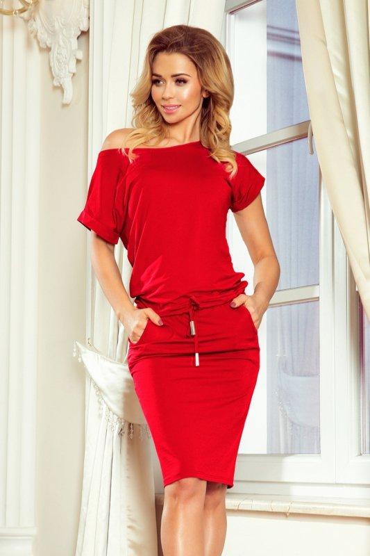 Sukienka dzienna 139-4 czerwona