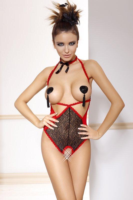 Body-damskie-erotyczne-plus-size-xl-xxl-Aurea-czerwone-otwarte-prezent
