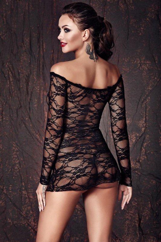Koszulka-erotyczna-damska-plus-size-dla-puszystych-xl-xxl-LYNETTE-XL-6XL-czarna-seksowna-prezent-dla-kobiety-na-swieta-bozego-narodzenia-tyl