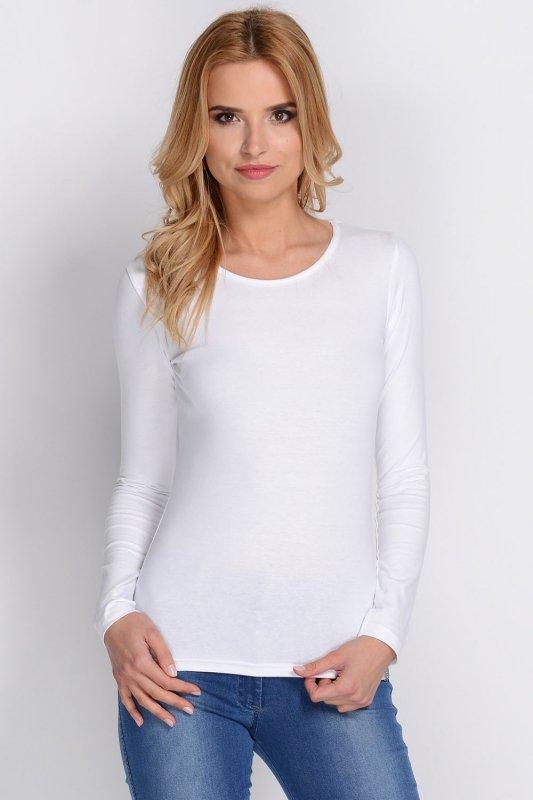 Bluzka damska XL-XXL długi rękaw PLUS SIZE White