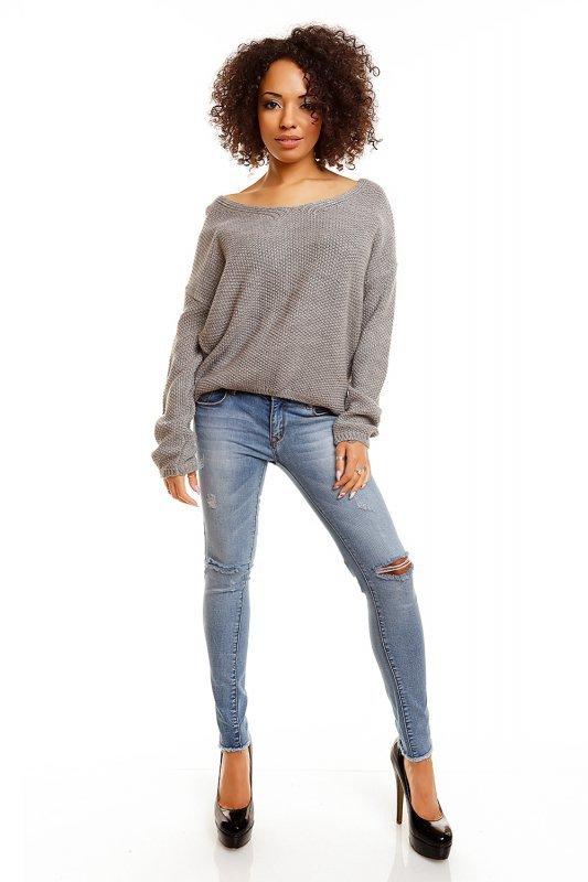 Sweter model 30047 Light Gray