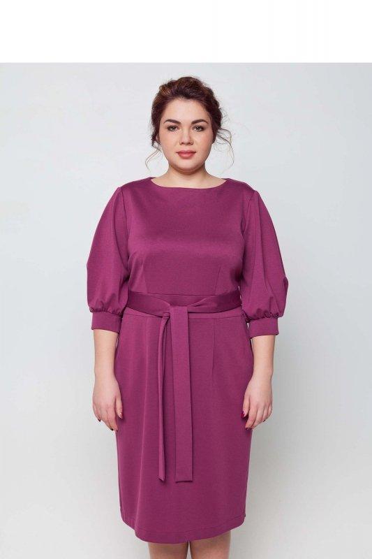 3b8ff0d750 Śliczna fioletowa sukienka plus size XXL midi - XELKA odzież damska ...