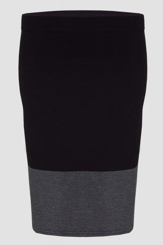 Spodnica-damska-36-46-z-dzianiny-DUO-PLUS-SIZE-S-020-Black/Graphit-Do-pracy