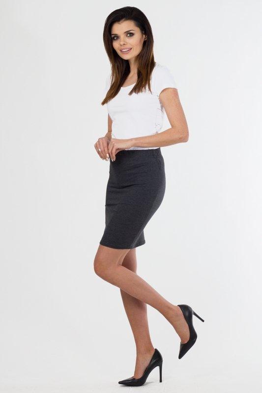 Spodnica-damska-36-46-dzianina-do-pracy-S-010-GRAFITOWA-Plus-Size-szara-bok