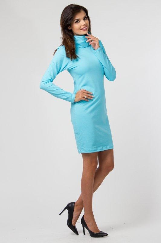 Sukienka dzianinowa M-035 Turquise