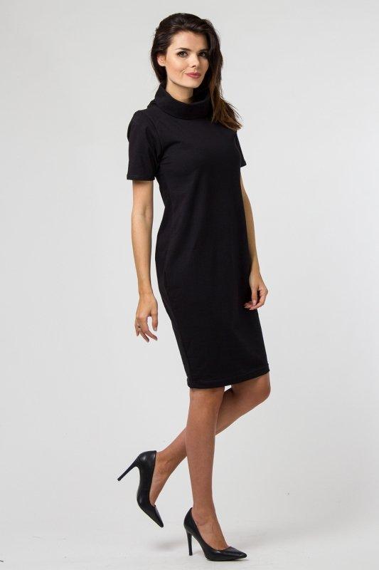 033566a58dea35 Sukienka dzianinowa K-041 Black - Sukienki dzienne PLUS SIZE ...