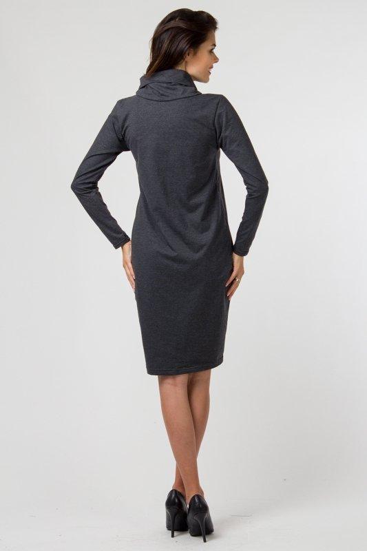 Sukienka dzianinowa K-040 Graphit