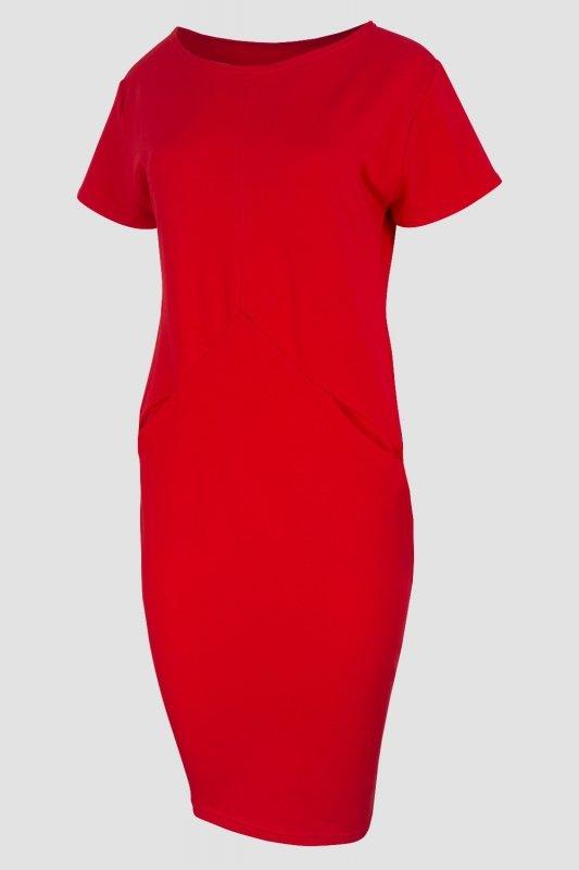 Sukienka-dzienna-plus-size-dresowa-D-041-Red-dzianina-kxxl-xl-do-biura-tyl-czerwien