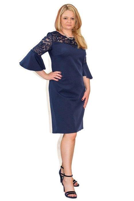 elegancka-sukienka-plus-size-xl-xxl-40-60-na-wesele-dla-puszystych-PAOLA-granatowa-modna-przod