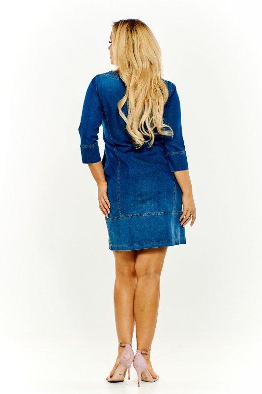 Ołówkowa sukienka jeansowa