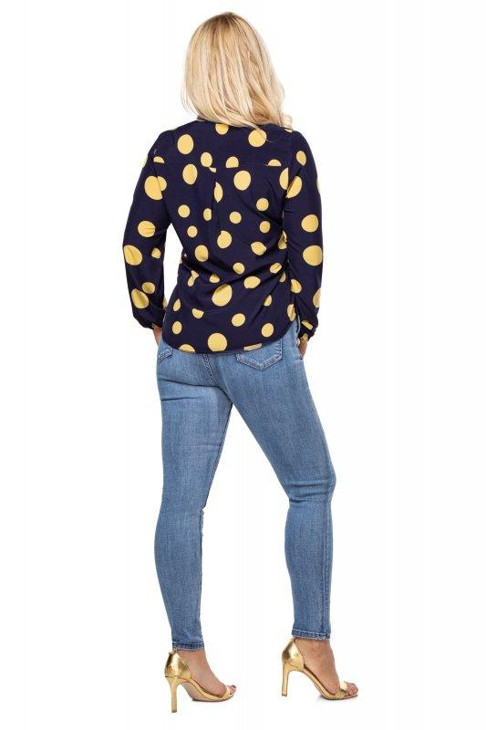 Elegancka-bluzka-damska-plus-size-dla-puszystych-KALINA7-o-koszulowym-kroju-xl-xxl-grochy-do-biura-chrzest-bierzmowanie-komunia-tyl