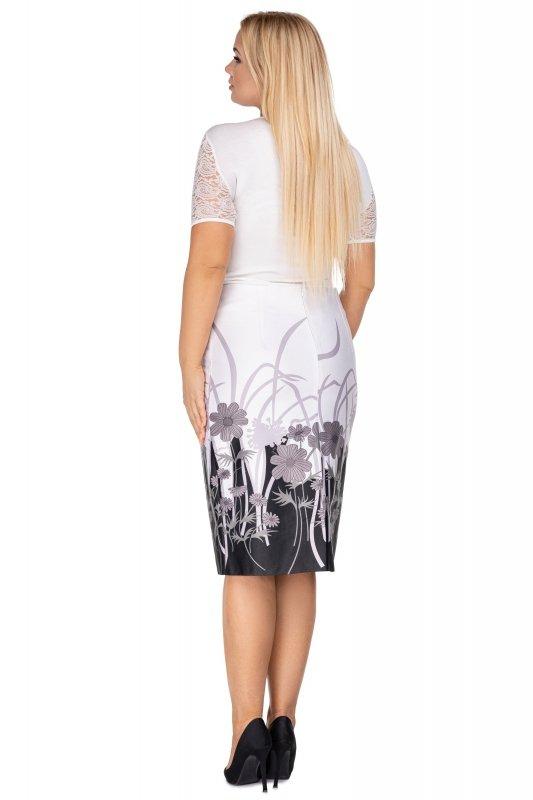 Elegancka-spodnica-plus-size-dla-puszystych-xl-xxl-KARINA-midi-kwiaty-chrzest-komunia-bierzmowanie-tyl