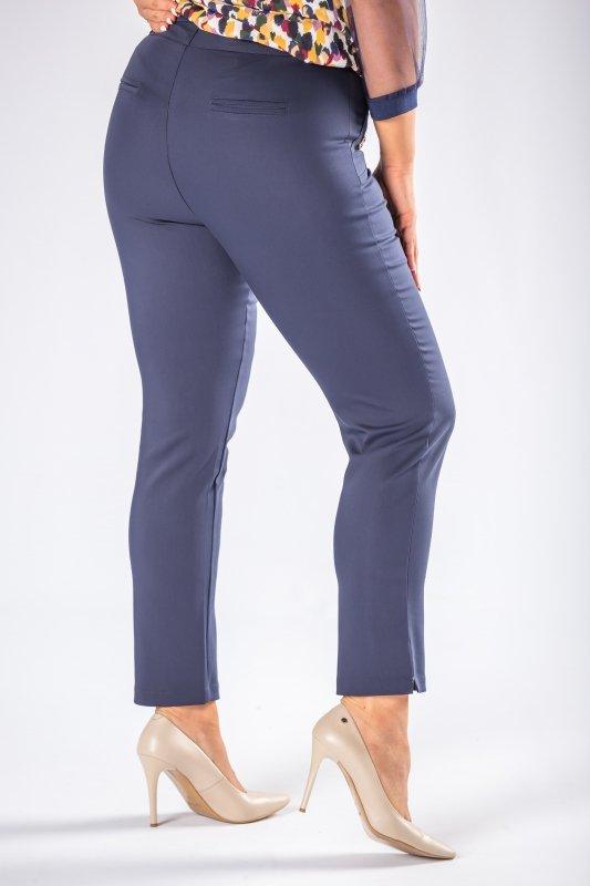 Eleganckie spodnie EDYTA w kant z guzikami