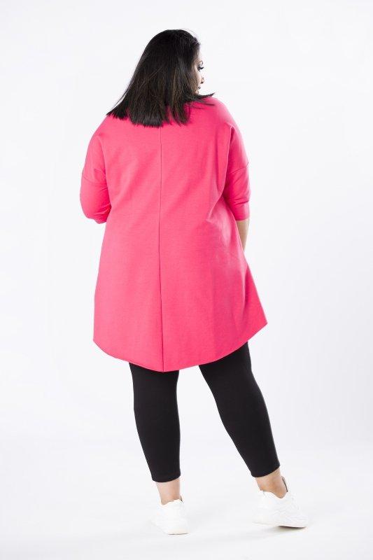 Dres-damski-plus-size-bawełniany-IZA-bluza-spodnie-dla-puszystych-xl-xxl-rozowy-pasy