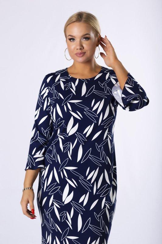 Sukienka-plus-size-elegancka-BRENDA-kwiaty-dla-puszystych-czarna-midi-tyl