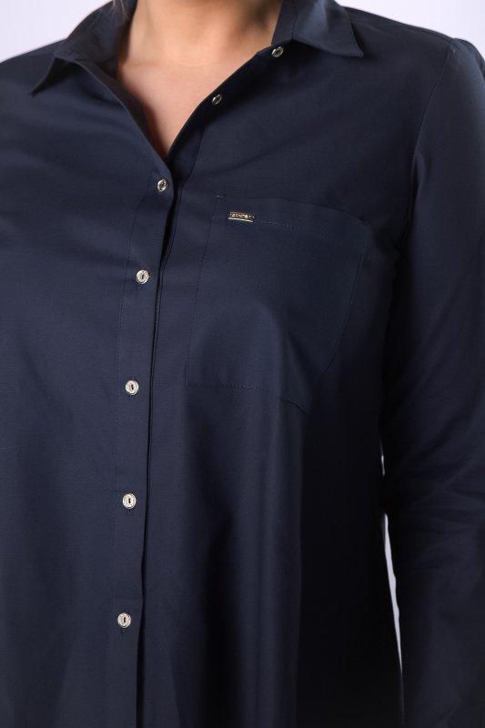 Koszula KARLA z wydłużonym tyłem