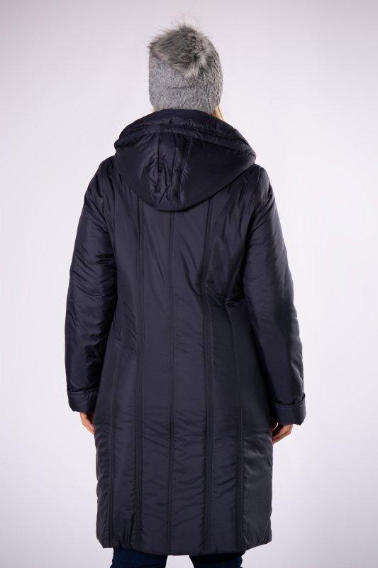 Płaszcz taliowany ZIKA z kapturem