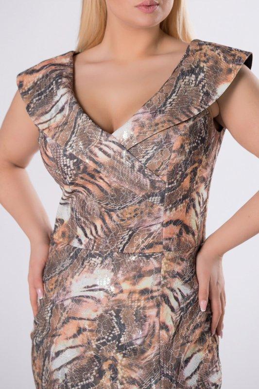 Sukienka SNAKE z zakładkami