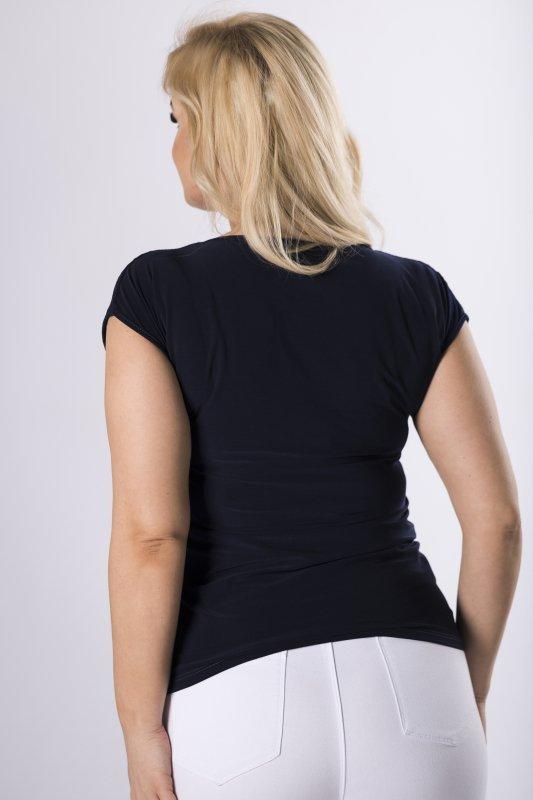 bluzka z koronkowym wykończeniem