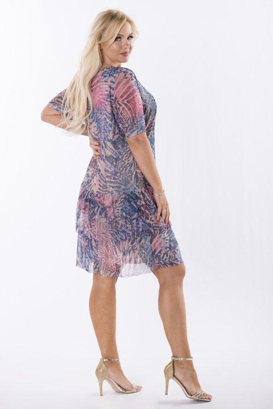 Trapezowa-sukienka-plus-size-WERONA-zwiewna-bezowa-bok