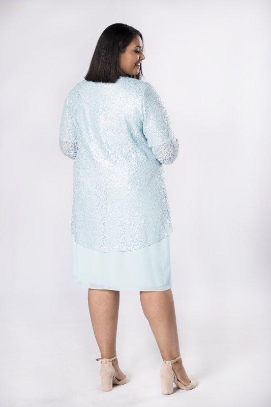 Elegancka sukienka MIA z koronkowym żakietem