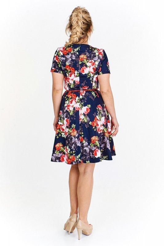 Rozkloszowana sukienka IZA w kawiaty