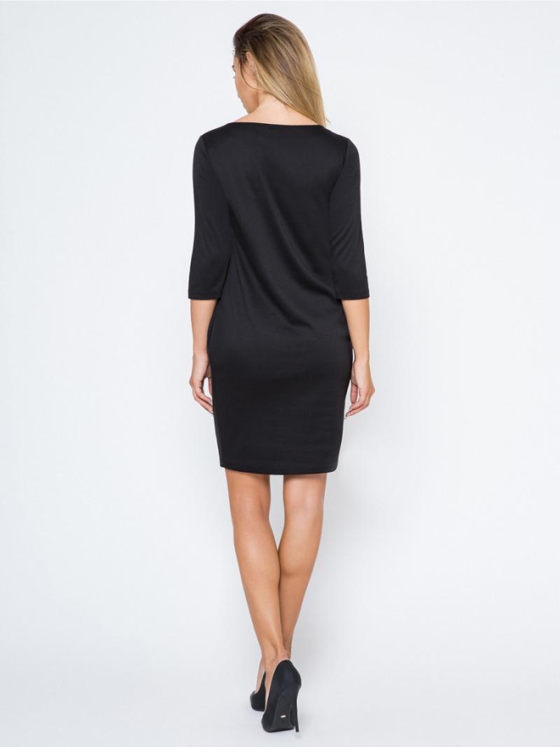 Sukienka dzienna 40-50 plus size TUBA czarna