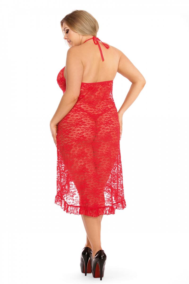 Koszulka-damska-erotyczna-plus-size-dla-puszystych-xxl-xxxl-DION-XL-6XL-czerwona-dluga-prezent-dla-kobiety-na-swieta-bozego-narodzenia-tyl