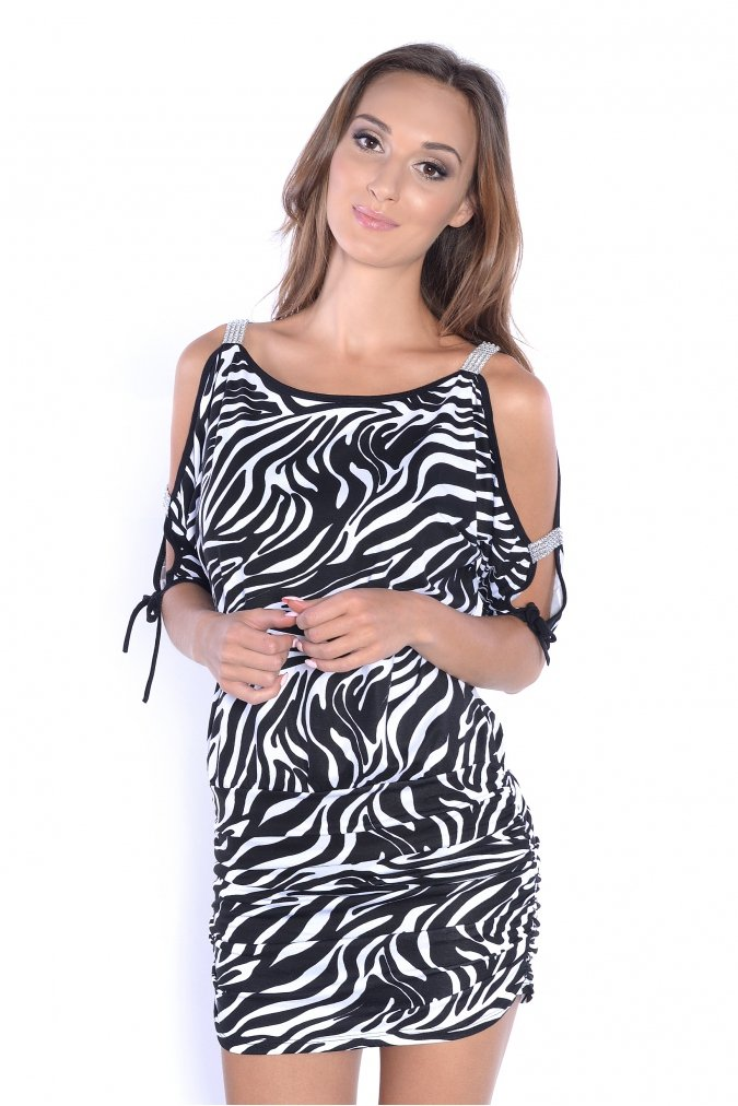 Tunika-damska-xl-PLUS-SIZE-PARTY-zwierzecy-wzor-zebra