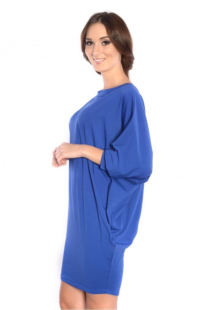 Sukienka-plus-size-/-tunika-oversize-NIETOPERZ-xl-xxl-niebieska-luzna-na-impreze-bok