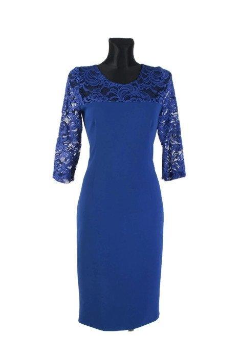 Elegancka-sukienka-XXL-dla-puszystych-plus-size-40-58-ALFA-midi-niebieska-koronka-front