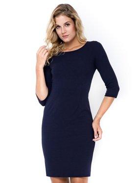 Elegancka-sukienka-plus-size-XXL-ołówkowa-midi-granatowa