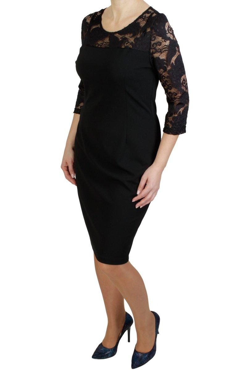 czarna-sukienka-plus-size-z-koronka-midi-przod-odziez-damska-plus-size-XXL-duze-rozmiary-sklep-internetowy-online-4