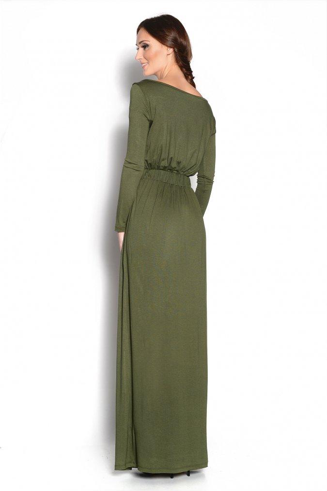 Elegancka-sukienka-XXL-plus-size-MAJA-S-M-L-XL-XXL-XXXL-długa-khaki-zielona-dla-puszystych-tyl