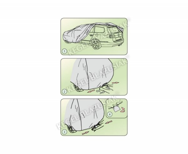 Pokrowiec na samochód MOBILE GARAGE roz. L  hatchback/combi