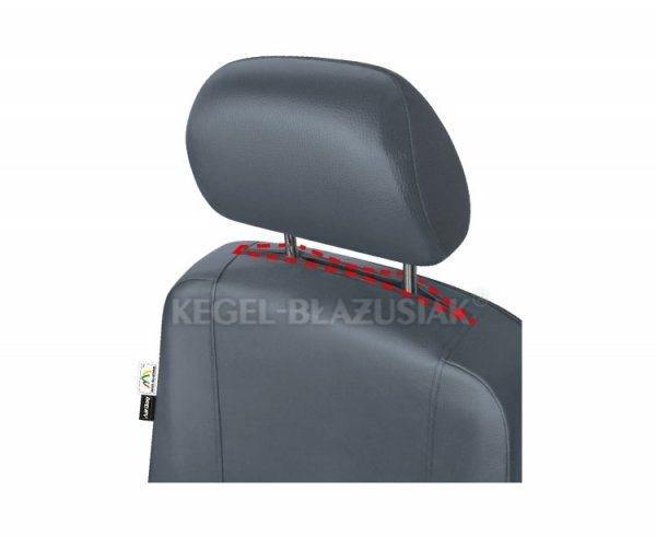 Pokrowiec samochodowy na przednie fotele PRACTICAL Gray