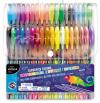 KIDEA Długopisy żelowe 36 kolorów Zapachowe Brokatowe Metaliczne Fluo (DZ36KA)
