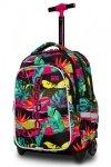 Plecak CoolPack LED JUNIOR na kółkach w kolorowe liście PARADISE (97314)