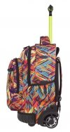 Plecak CoolPack SWIFT  na kółkach artystyczne wzory, COLOR VIBES + gratis (85011CP)