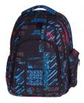 Plecak szkolny młodzieżowy COOLPACK MAXI niebiesko - czerwone wzory, UNDERGROUND 831 (75626)