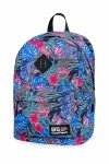 Plecak CoolPack CROSS w kolorowe kwiaty, ALOHA BLUE (B26048)
