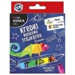Kredki trójkątne woskowe 12 kolorów KIDEA (KWT12KA)