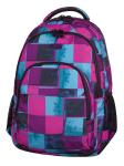 Plecak CoolPack BASIC w niebieskie i różowe kwadraty, PLAID 905 (69359)