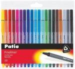 Cienkopisy pisaki TRIO 20 kolorów PATIO (18586)