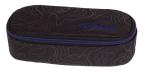 Piórnik szkolny COOLPACK CAMPUS czarny z niebieskimi dodatkami, TOPOGRAPHY BLUE 989 (71512)