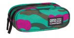 Piórnik CoolPack CLEVER dwukomorowy saszetka zielono - różowe moro, CAMOUFLAGE EMERALD 869 (76555)