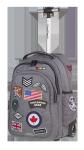 Plecak szkolny młodzieżowy na kółkach COOLPACK JUNIOR szary w znaczki, BADGES GREY (89531)