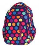 Plecak szkolny młodzieżowy COOLPACK PRIME w kolorowe kropki, LOLLIPOPS 1059 (79495)