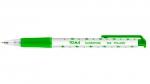 Długopis automatyczny w gwiazdki TOMA, zielony 20szt (TO-069)